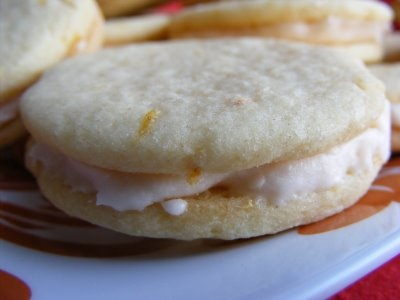 Pink Grapefruit Sandwich Cookies | Sweet Eats: Cookies | Pinterest