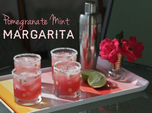 Can't wait to enjoy these tomorrow! Pomegranate Mint Margaritas for ...