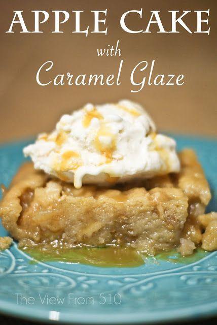 Apple Cake with Caramel Glaze recipe | Favorite Recipes | Pinterest