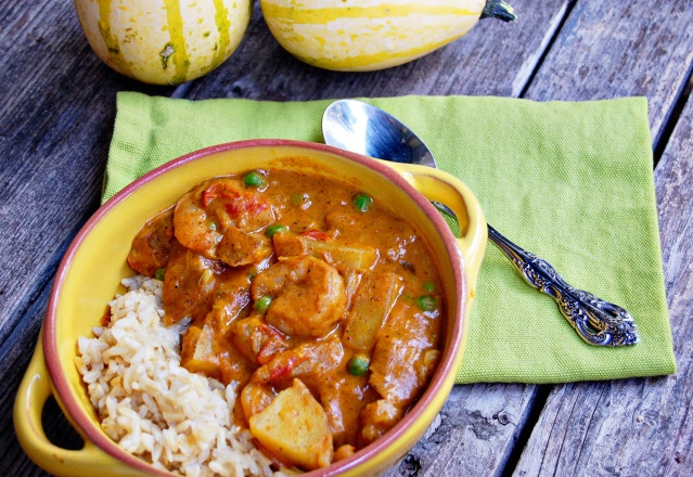 Pumpkin Coconut Shrimp Curry | Food for Thought | Pinterest