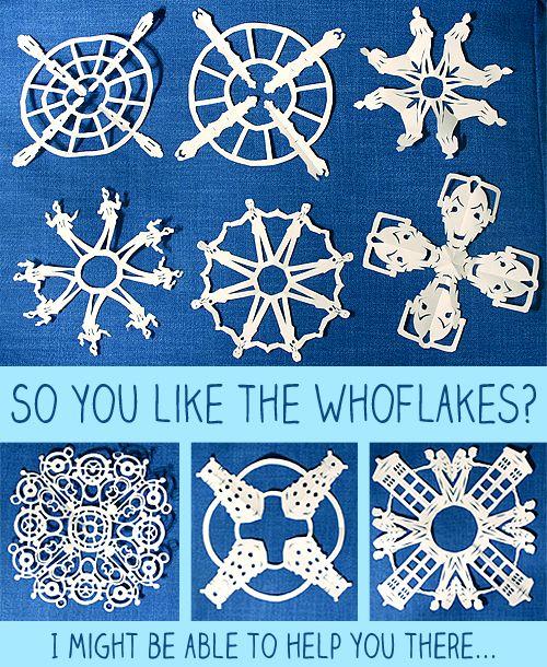 printable doctor who snowflake templates!!