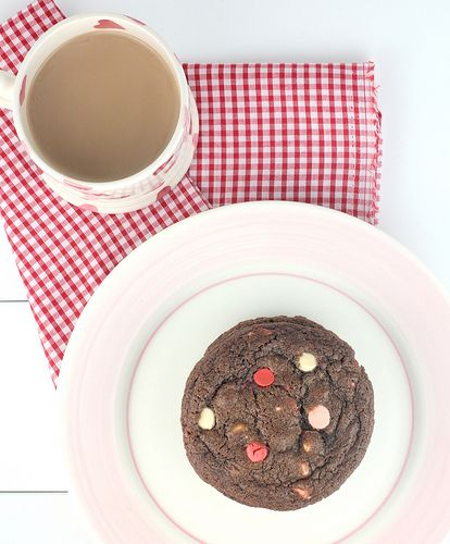 Valentine's Day Coloured Chocolate Chip Cookies by Made With Pink, via ...