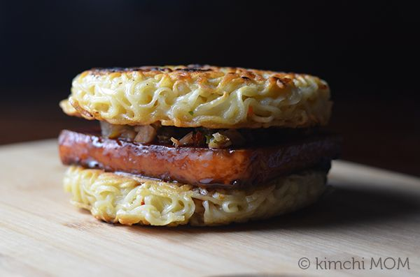 Spam Ramen Burger - kimchi MOM ™ | Yummies | Pinterest