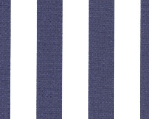 Two Curtain Panels 25 X 108 Navy Blue And White Stripes