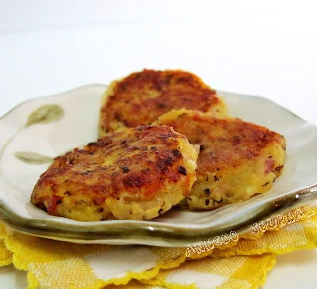 Bacon Potato Cakes with Cheese