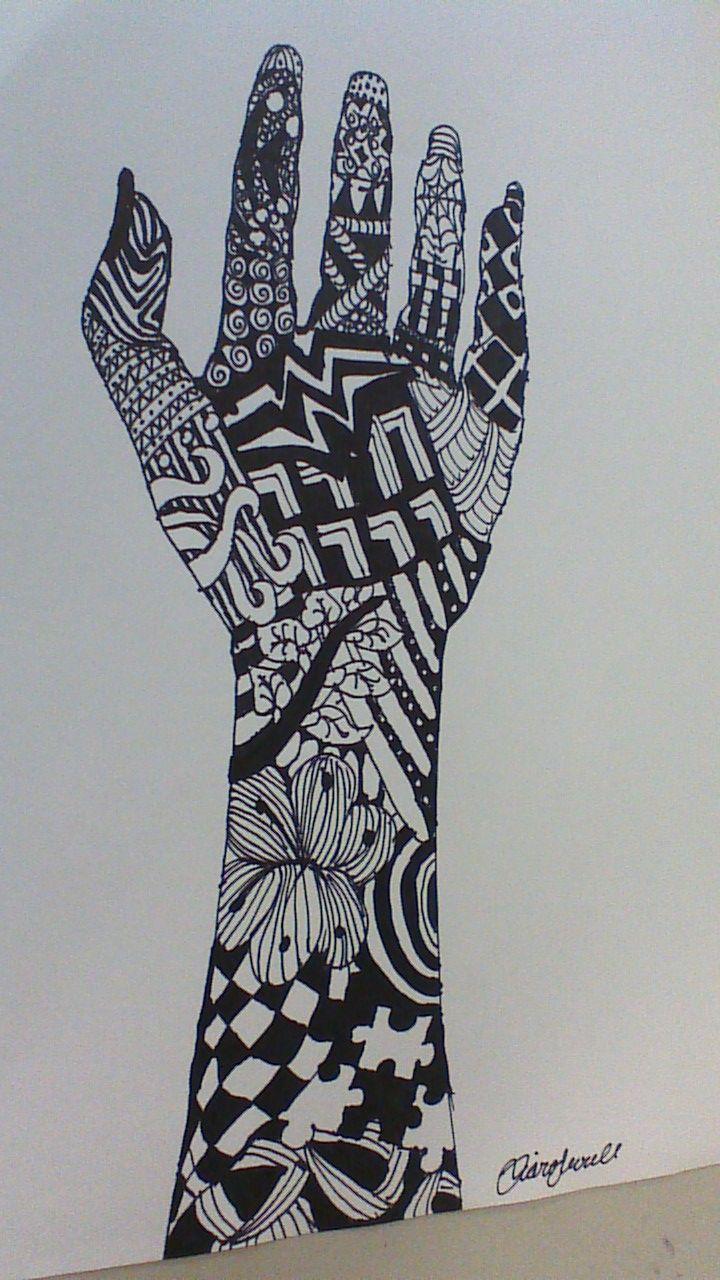 Zentangle art hand