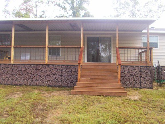 Pictures of decks and porches for mobile homes joy Decks and porches for mobile homes