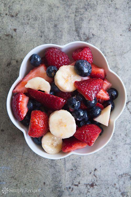 Fruit Salad Recipe, Mixed Berry and Banana Fruit Salad Recipe | Simply ...