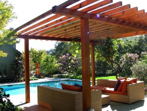 Simple pergola backyard time pinterest for Simple pergola ideas