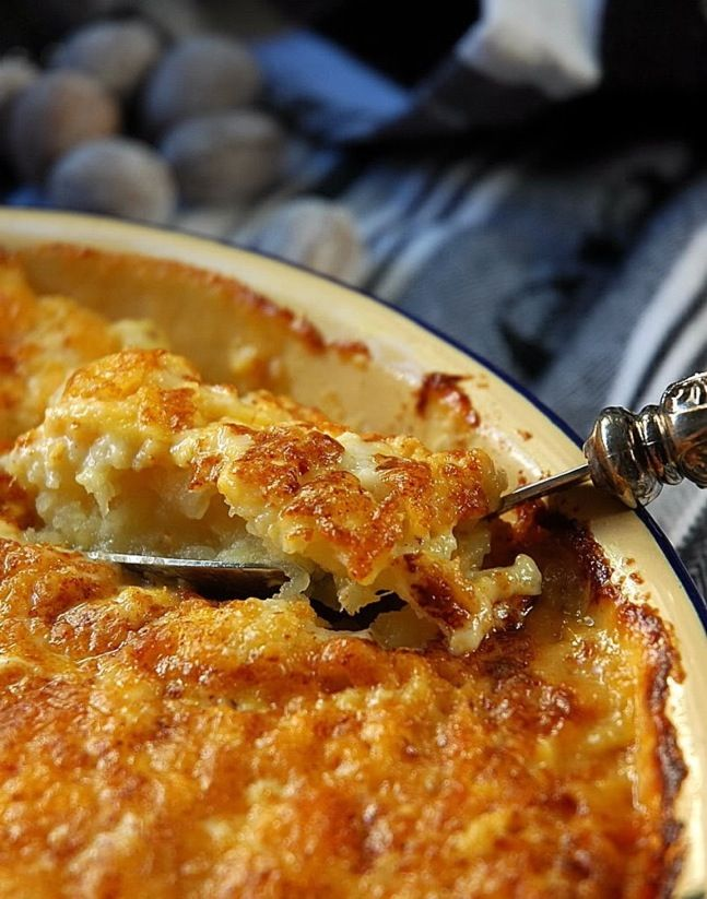 Scalloped Yukon Gold And Sweet Potato Gratin With Fresh Herbs Recipe ...