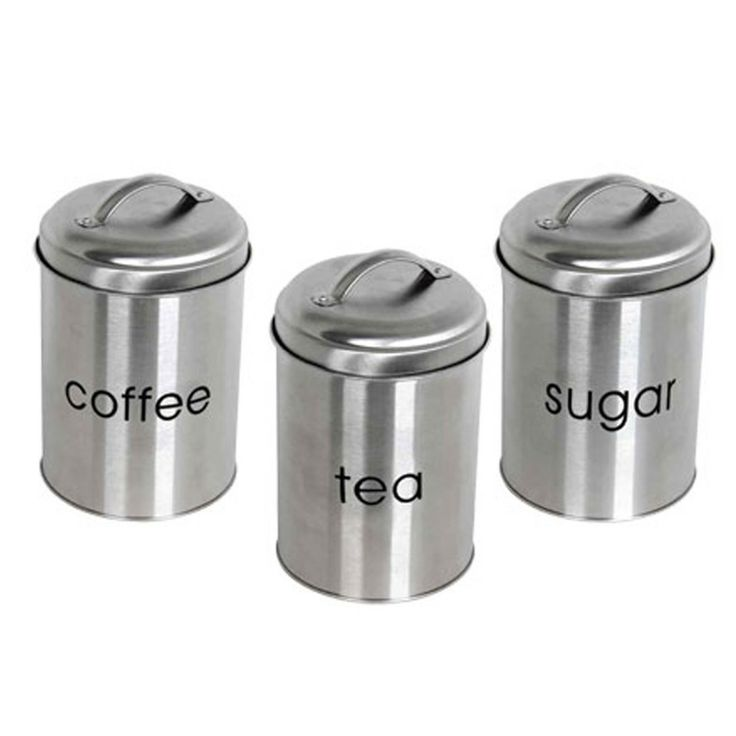 stainless steel canister set dream kitchen pinterest