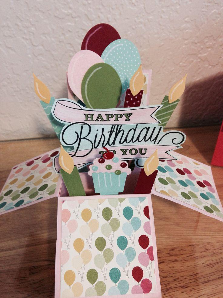 Birthday Cards Box ~ Birthday box card in a pinterest