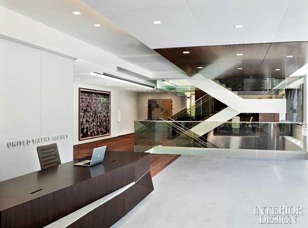 Pin by samantha bronson on office interiors reception for Interior design agency los angeles