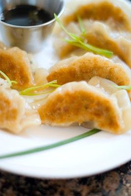 Chinese pork and chive pot stickers | Chinese Food | Pinterest