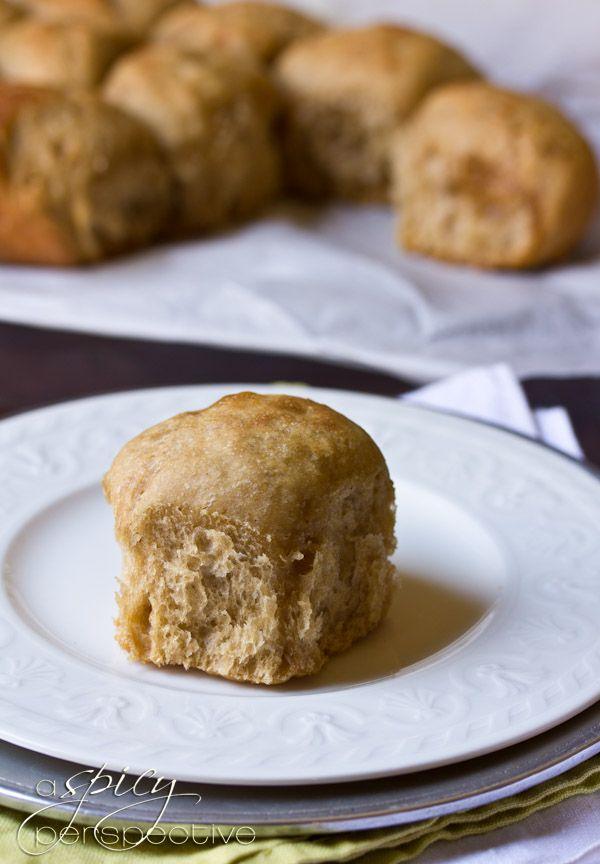 Slow Cooker Apple Butter Yeast Rolls Recipe | ASpicyPerspective.com # ...