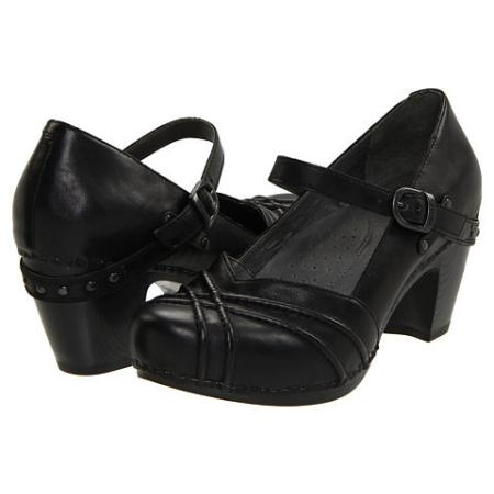 LOVE Dansko Shoes!! Women's Maryjane Shoes - Black Full Grain Leather