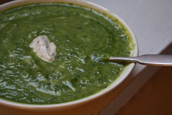Cold Pea Soup with Lemon, Basil, and Ginger. Great for lunch at work ...