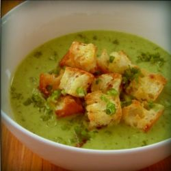 pea soup with mint and sour cream   Treats   Pinterest