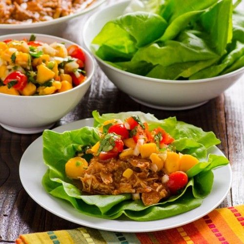 Mexican Chicken Lettuce Cups Recipe | Food | Pinterest