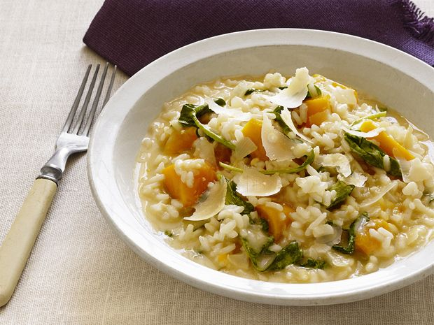 Butternut Squash Risotto from FoodNetwork.com (SUB: SPINACH for Argula ...
