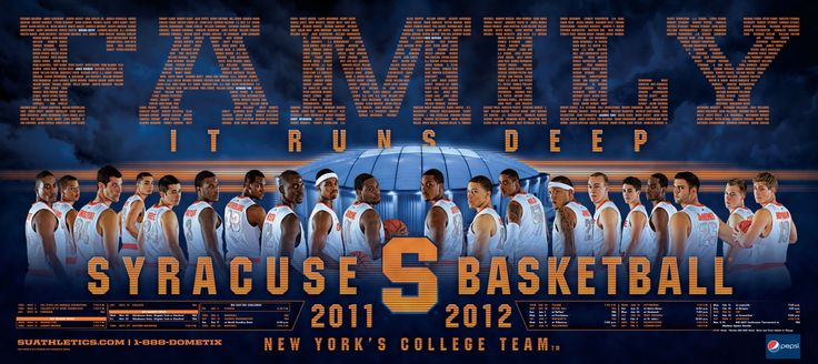 Syracuse Men's Basketball Poster 2011-2012