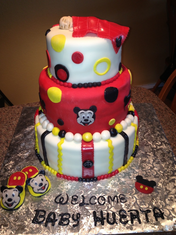 mickey mouse baby shower cake baby shower ideas pinterest
