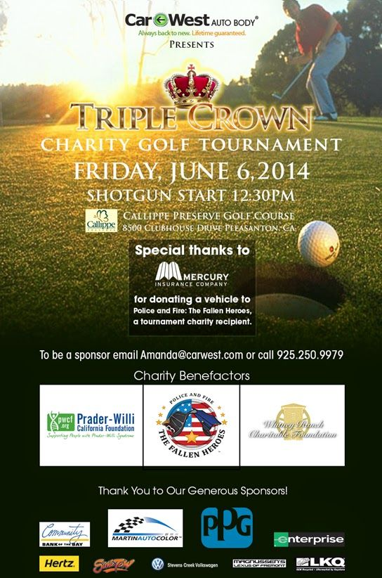 Car west auto body presents triple crown charity golf for How to buy a car from charity motors