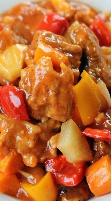 Sweet and Sour Pork Recipe | Recipes | Pinterest