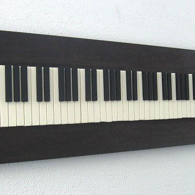 LOVE THIS! Rustic Wood Sculpture  Piano Keys