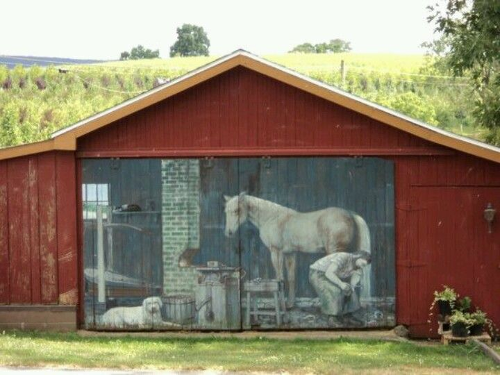 Mural painted on barn unique old barns pinterest for Mural unique