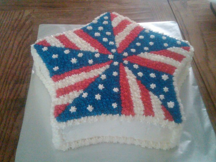 Cake Decorating Ideas For July 4th : 4th of July cake!