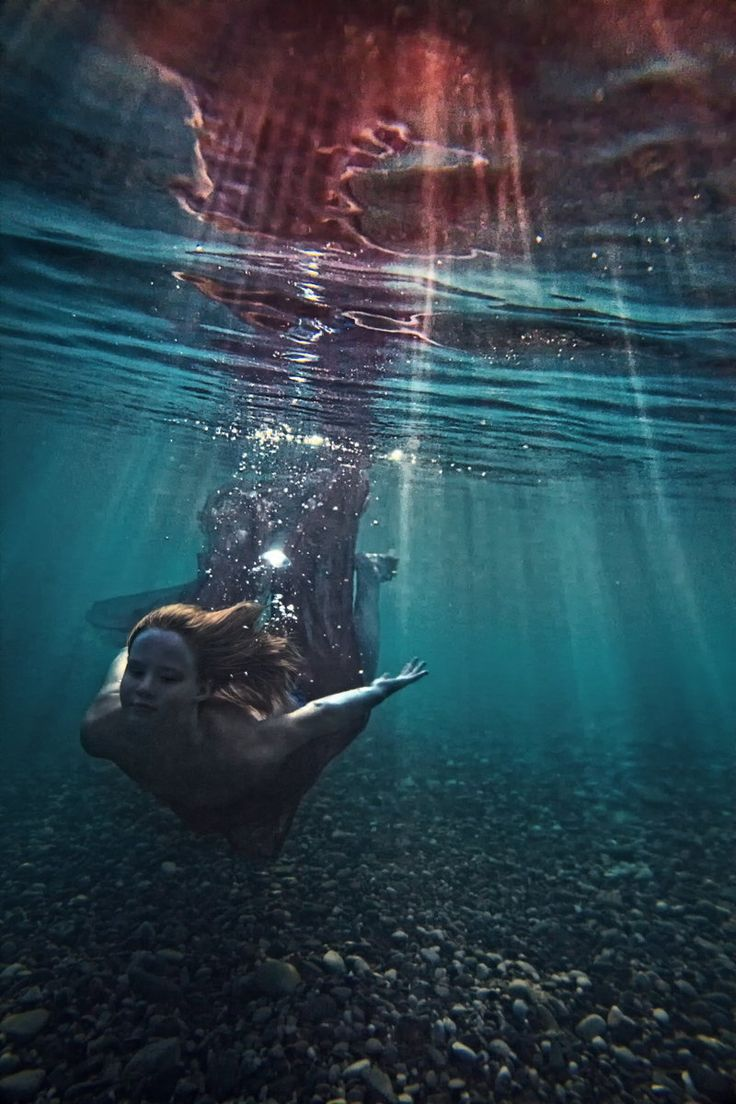 little mermaid by Dmitry Laudin – Lies Beneath by Anne  Greenwood Brown