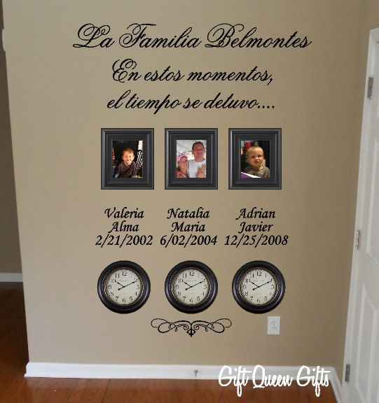 Spanish Wall Decor wall art decals in spanish ~ color the walls of your house