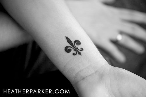 Fleur de lis tattoo its-the-little-things