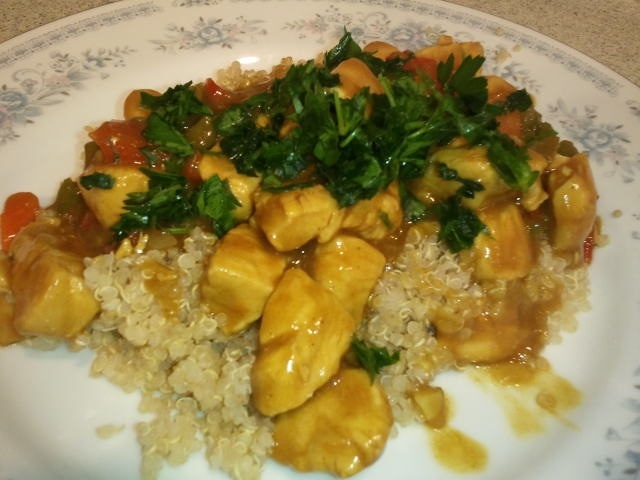 Curry chicken with vegetables and quinoa | Can you say ... yummy ...