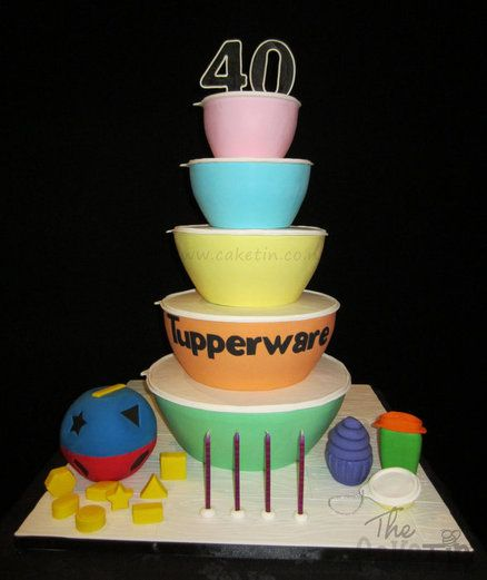 Cake Decorating Napier Nz : Tupperware 40th Birthday in New Zealand Cakes Pinterest