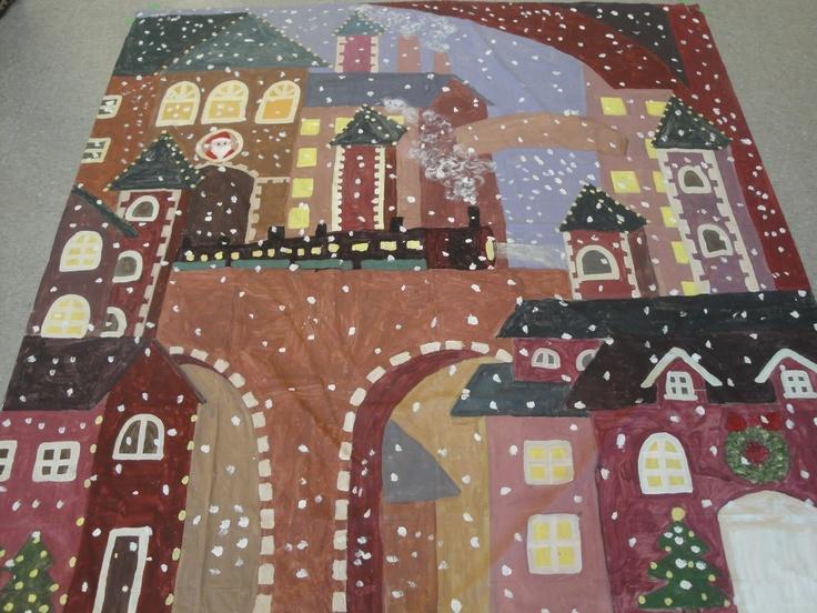 polar express backdrops - Google Search | Christmas | Pinterest