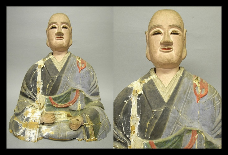 Japanese Buddhist Monk Priest NICHIREN Sculpture Statue