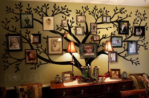 Tree Wall Decals Wall Stickers – Big Family Tree decal – Photo frame ...