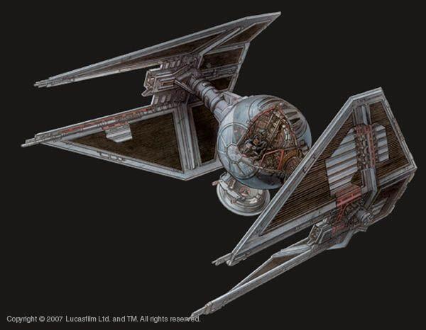 TIE/IN Interceptor : Star Wars: Cutaways : Pinterest