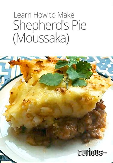Make the popular Greek dish Shepherd's Pie (also known as moussaka ...
