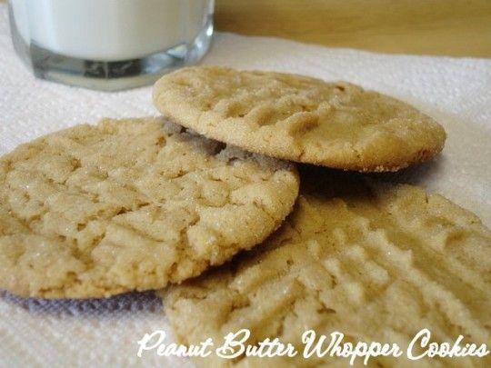Peanut Butter Whopper Cookie Sandwiches Recipe — Dishmaps