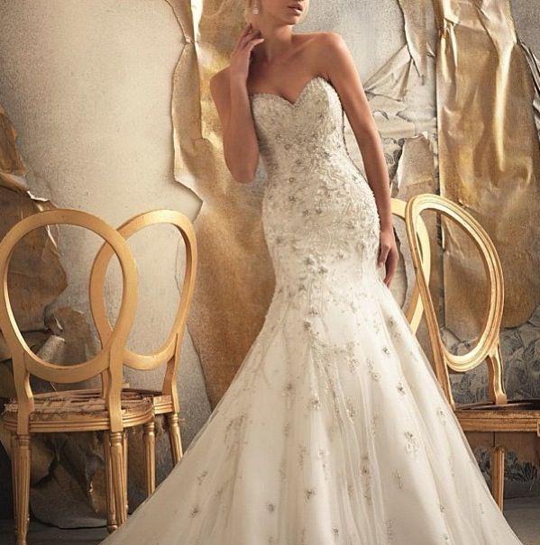 Lace corset mermaid bottom amazing wedding dress