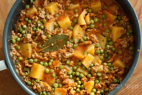 Ground Turkey with Potatoes and Spring Peas #kidfriendly #comfortfood ...