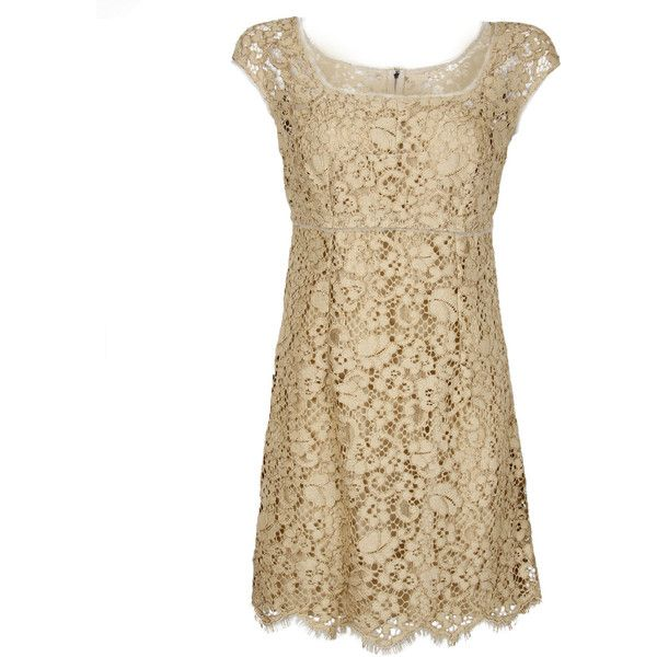 Dolce & Gabbana Beige Lace Dress found on Polyvore