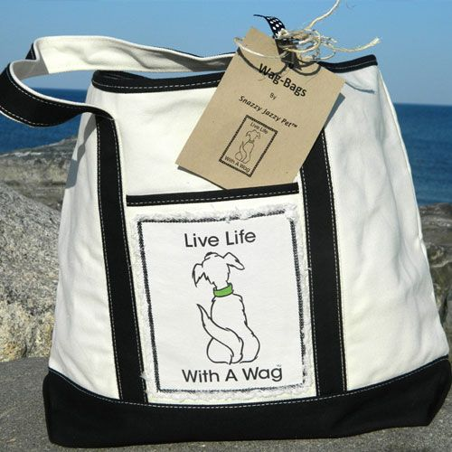 Fun canvas tote bag for dog lovers...