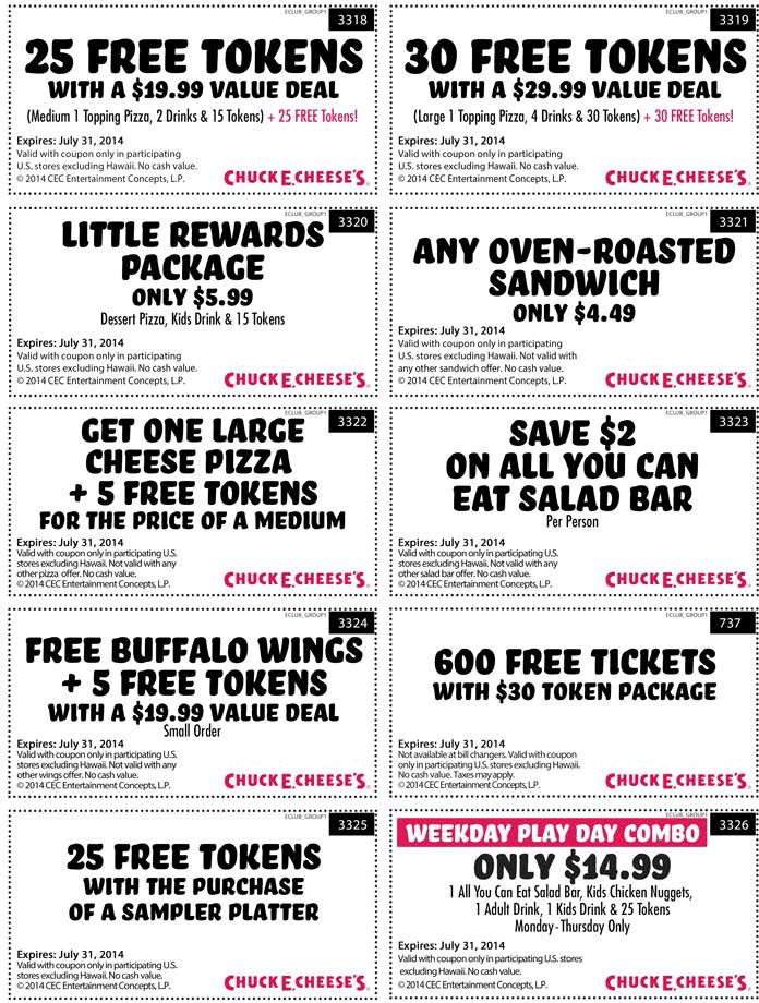 ... just $20 bucks & more at #ChuckECheese #coupon via The #Coupons App