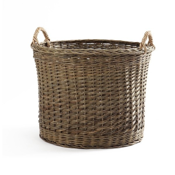 Woven Basket Pinterest : Mln woven basket of unbarked reed luscious laundries