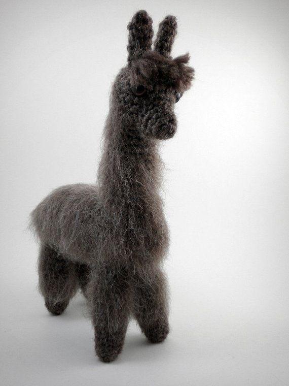 Amigurumi Alpaca : Fuzzy Alpaca- Realistic Amigurumi Plush Alpaca