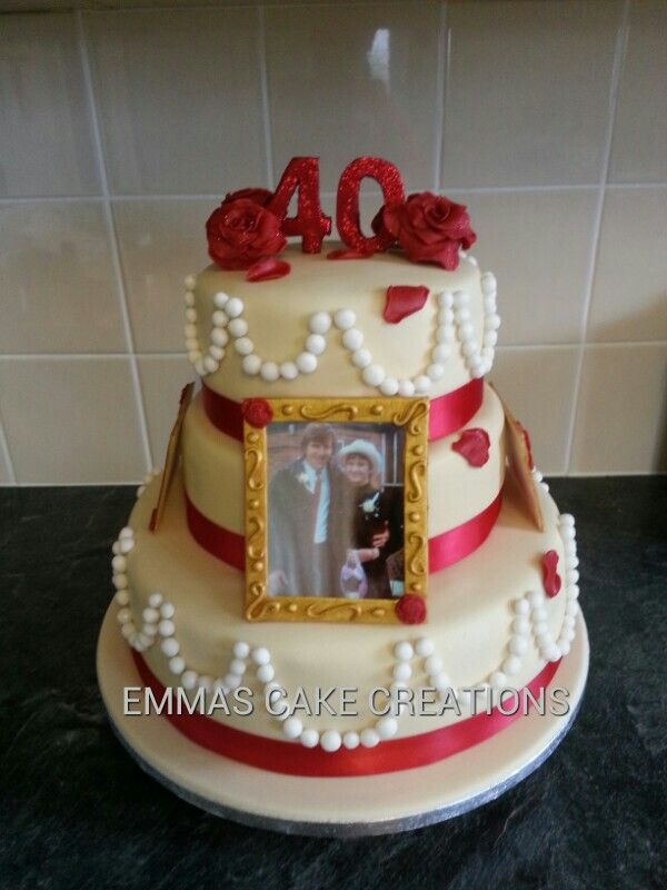 40th wedding anniversary cake cakes 2 pinterest
